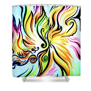 Sunny Morning. Abstract Vision Shower Curtain