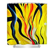 Sunny Morning, Energy. Abstract Art Shower Curtain