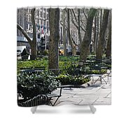 Sunny Morning In The Park Shower Curtain