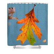 Sunny Oak Leaf Shower Curtain