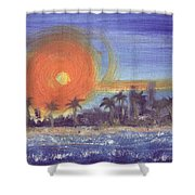 Sunny  Palms Shower Curtain