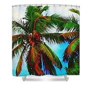 Sunny Palms Shower Curtain