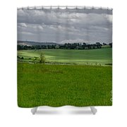 Sunny Patches On The Field. Shower Curtain
