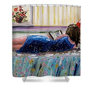 Sunny Reading Shower Curtain