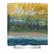 Sunny Side Beach Shower Curtain