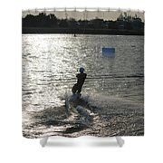 Sunny Ski Shower Curtain