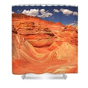 Sunny Skies At The Wave Shower Curtain