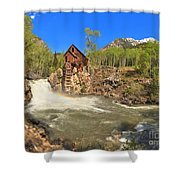 Sunny Skies Over The Crystal Mill Shower Curtain