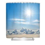 Sunny Sky Shower Curtain by Carlos Caetano