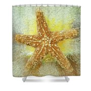 Sunny Star Shower Curtain