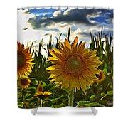 Sunny Sunflower Shower Curtain
