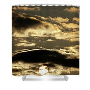 Sunny With Chance Of Clouds Shower Curtain