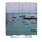 Sunray Harbor Shower Curtain