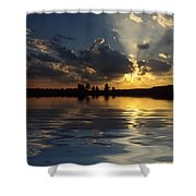 Sunray Sunset Shower Curtain