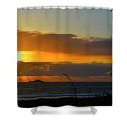 Sunrays And Clouds Shower Curtain