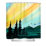 Sunrays Shower Curtain