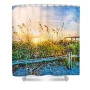 Sunrays On The Beach Shower Curtain