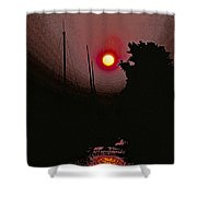 Sunrise 7 Over Lake Michigan  Shower Curtain