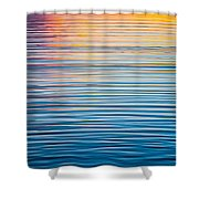 Sunrise Abstract On Calm Waters Shower Curtain