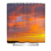 Sunrise And Clouds Over Pigeon Cove Shower Curtain