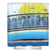 Sunrise And Flags Shower Curtain