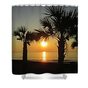 Sunrise And Palms Shower Curtain