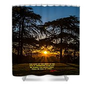 Sunrise And Scripture Shower Curtain