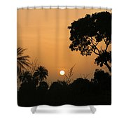 Sunrise And Silhouettes Shower Curtain