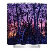 Sunrise And Snow Shower Curtain