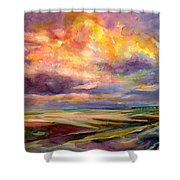 Sunrise And Tide Pool Shower Curtain