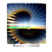 Sunrise At 30k  6 Shower Curtain
