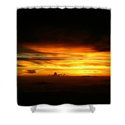 Sunrise At 38k Over El Salvador Shower Curtain