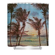 Sunrise At Cattlewash 3 Shower Curtain