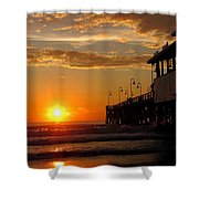 Sunrise At Daytona Beach Pier  004 Shower Curtain
