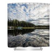 Sunrise At Fish Lake Shower Curtain