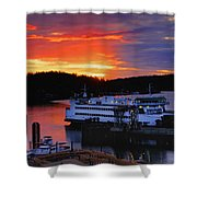 Sunrise At Friday Harbor Shower Curtain