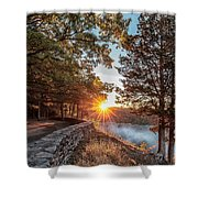 Sunrise At Great Bend Shower Curtain