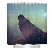 136625-sunrise At Index Rock  Shower Curtain