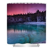 Sunrise At Indian Head Cove Shower Curtain