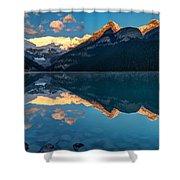 Sunrise At Lake Louise, Banff National Park, Alberta, Canada Shower Curtain