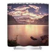 Sunrise At Lake Minnewanka Shower Curtain