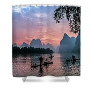 Sunrise At Lee River Shower Curtain