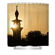 Sunrise At Mosque Of Tadjourah In Djibouti East Africa Shower Curtain