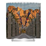 Sunrise At Mount Rushmore Promenade Shower Curtain