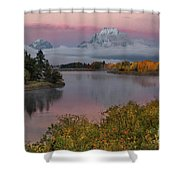 Sunrise At Oxbow Bend Shower Curtain