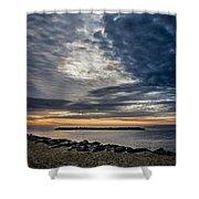 Sunrise At Rudee Inlet Shower Curtain
