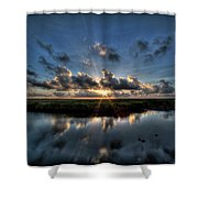 Sunrise At Sabine Pass Shower Curtain
