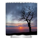 Sunrise At Saddle Overlook Shower Curtain