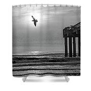 Sunrise At Saint Augustine Pier Shower Curtain