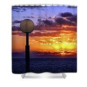 Sunrise At Sea Off The Delmarva Coast Shower Curtain